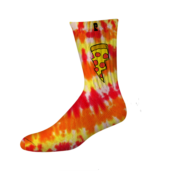 DOUGHNUT PSOCK - RED/YELLOW TIE DYE