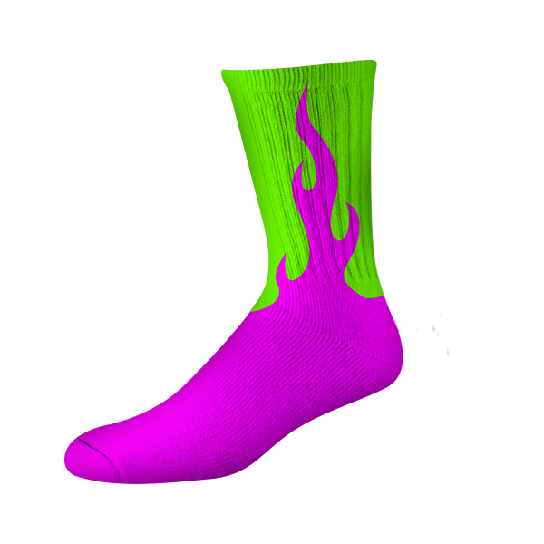 FLAMER PSOCK - PINK/GREEN NEON