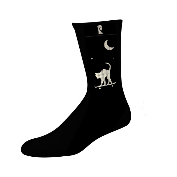 NIGHT CAT PSOCK - BLACK/GLOW