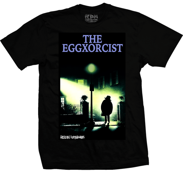 The Eggxorcist Tee Black