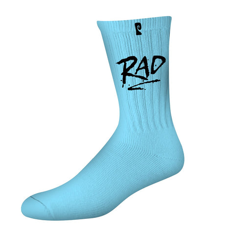 RAD PSOCK - LT BLUE/BLACK