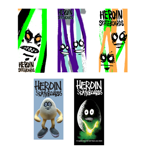 HEROIN HOLIDAY 20 STICKER SINGLE