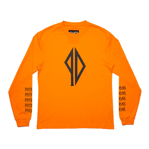 Piss Drunx Orange/Black Longsleeve Tee