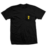 DOUGHNUT TEE - BLACK/YELLOW