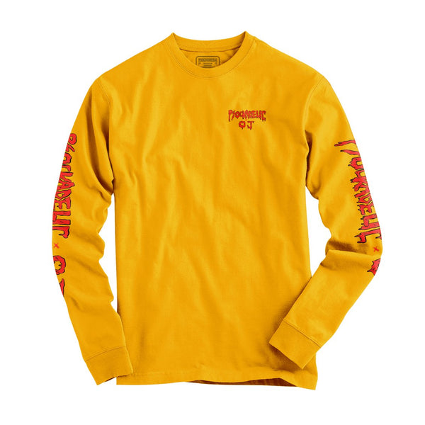 PSOCK X OJ WHEELS KILLER PIZZA LONGSLEEVE - GOLD