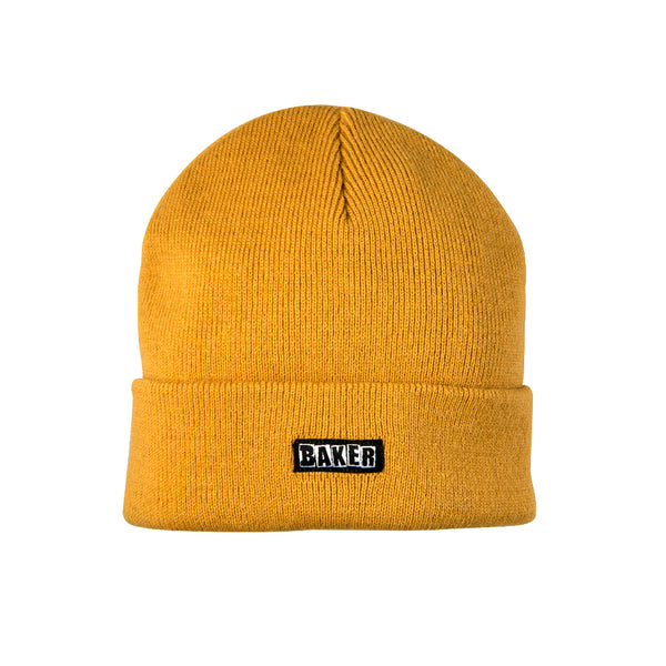 Brand Logo Beanie Honey Gold