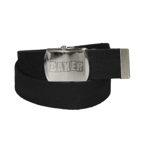 Brand Logo Black Web Belt