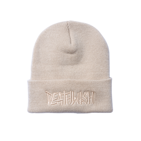 DEATHSPRAY CUFF BEANIE CREAM
