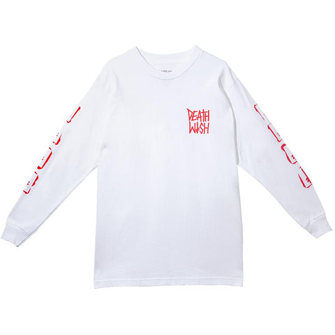 STENCIL LONG SLEEVE TEE WHITE