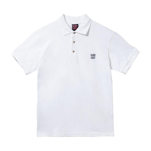 DEATHSTACK POLO WHITE