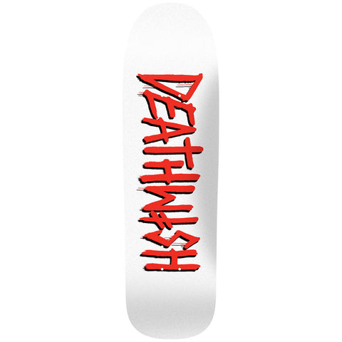 DEATH TAG SHAPED WHITE/RED 8.6