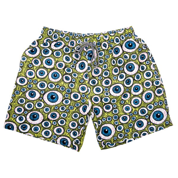 EYES BOARD SHORTS GREEN