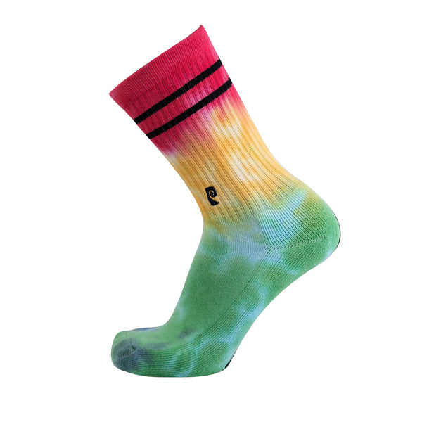 TIE-DYE PSOCK GREEN/YELLOW/RED