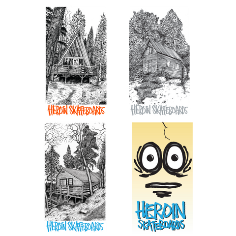 Heroin Holiday 2018 Stickers