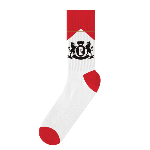 CIGS PSOCK - WHITE/RED