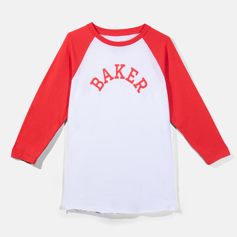 Major Raglan Tee White/Red