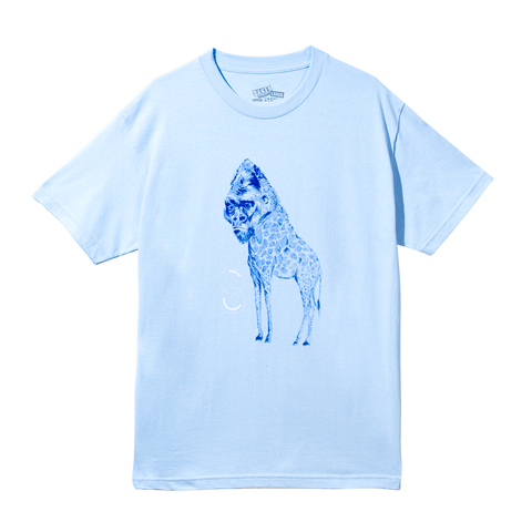 Giraffe Light Blue Tee