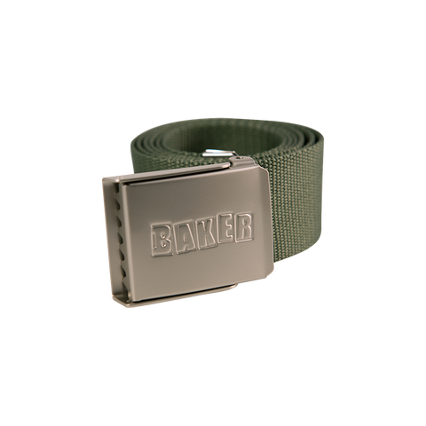 Brand Logo Forest Green Web Belt