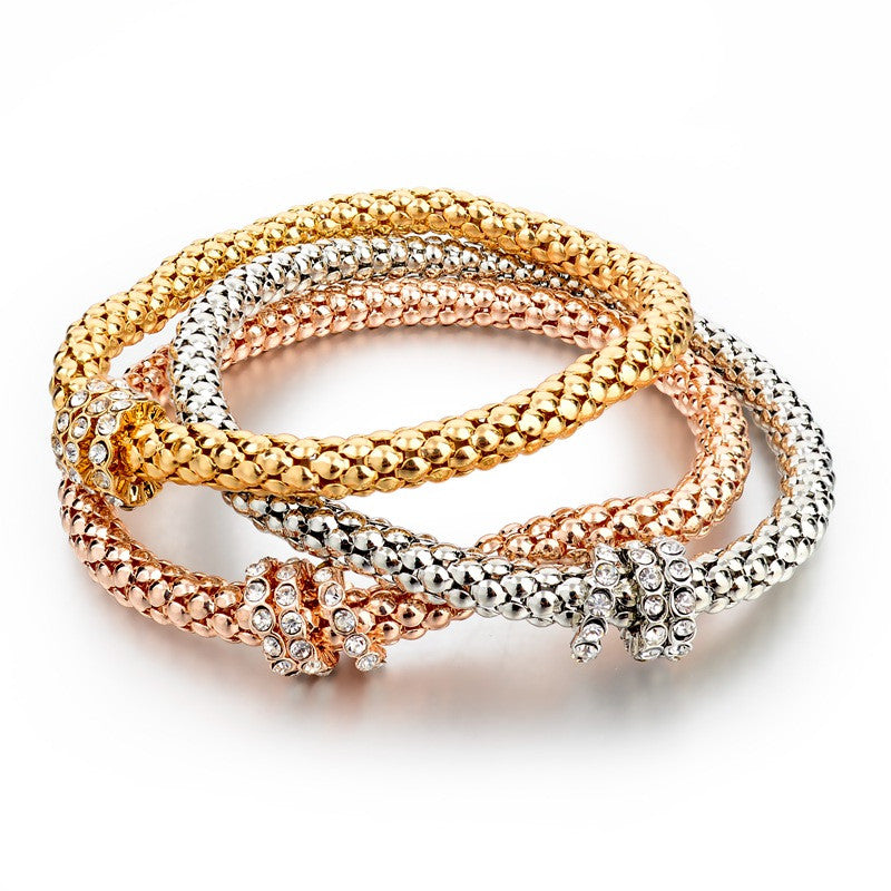 18K Gold Silver Rose Gold Plated Bracelet with Metal Chain
