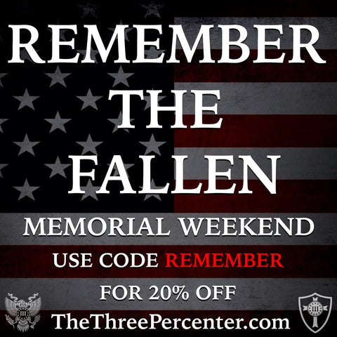 Memorial Weekend Sale - Use Code Remember for 20% Off