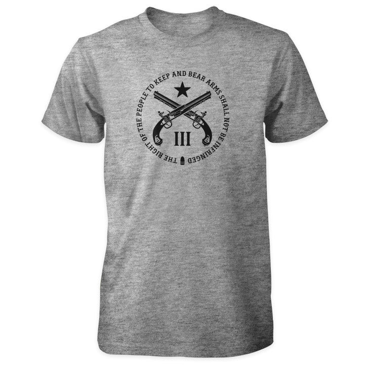 Pro Second Amendment Shirt - Grey