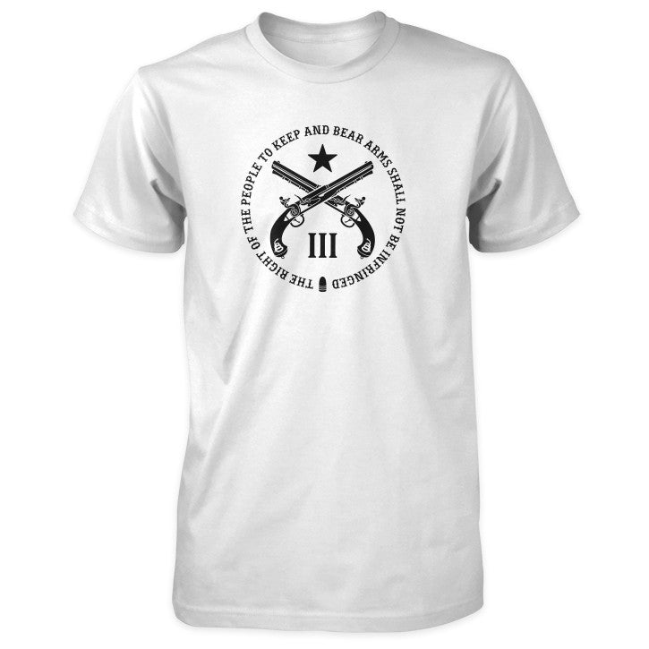 Pro Second Amendment Shirt - White