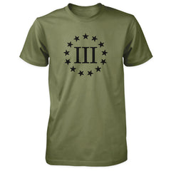 Three Percenter Shirt - III & 13 Stars Military