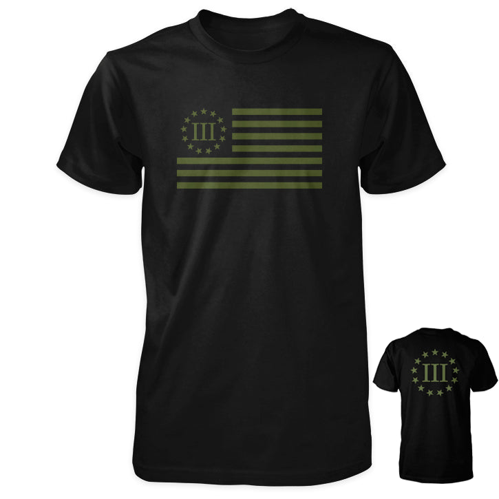 Three Percenter Shirt - III Percenter Flag / III & 13 Stars