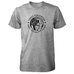 Three Percenter Shirt - Rebel Outlaw Patriot - Sports Grey