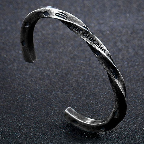 Viking Stainless Steel War Bracelet Always In My Heart