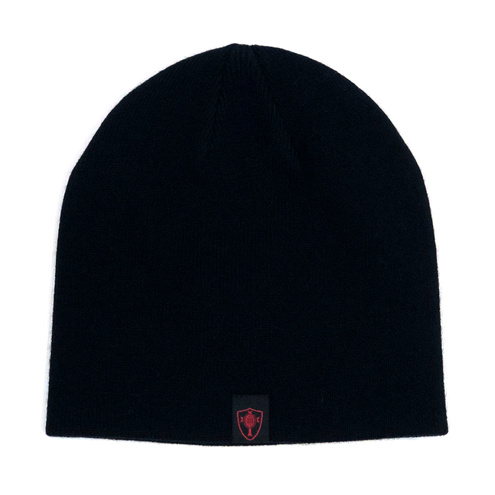 Three Percenter Beanie - III & 13 Stars - Black & Red - Back
