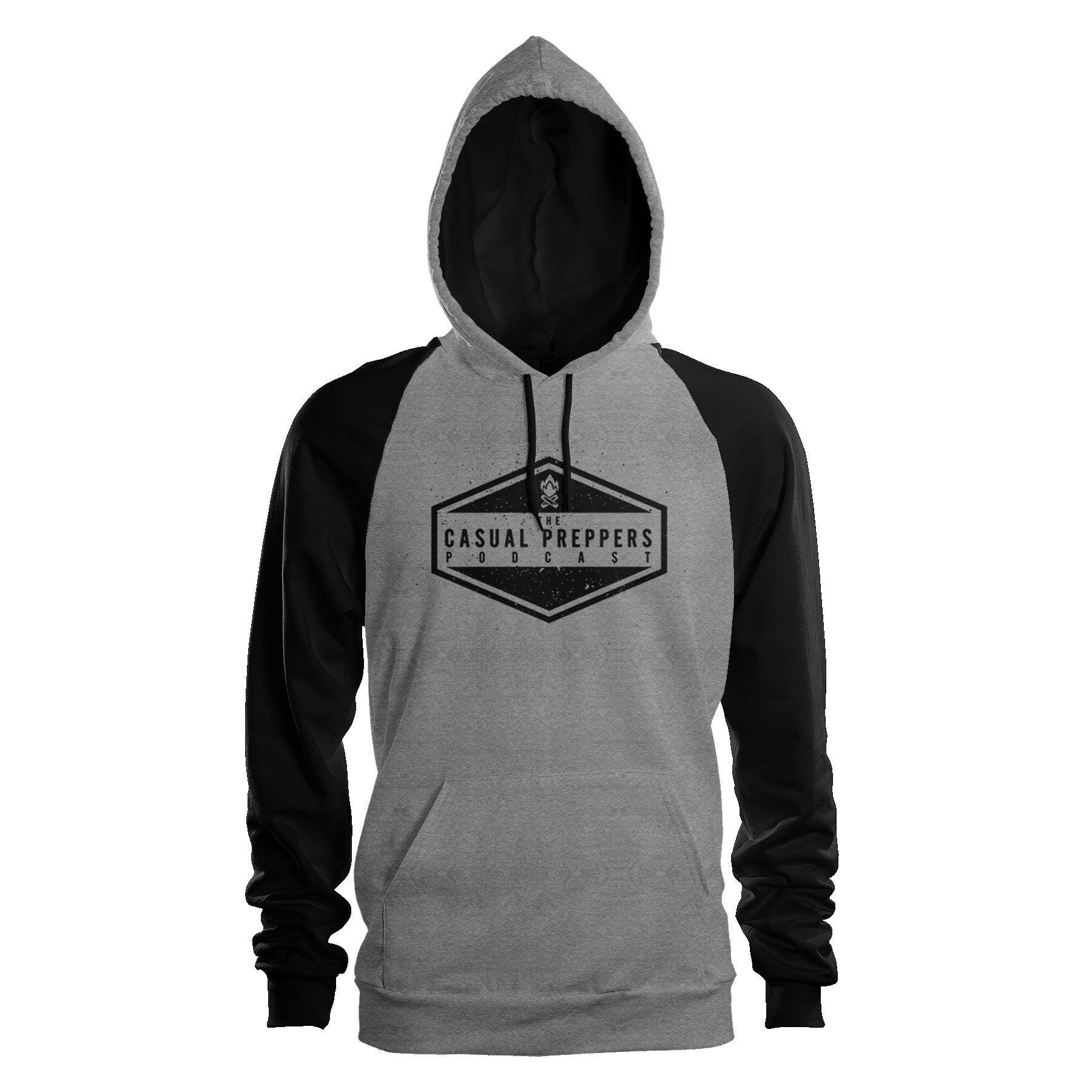 The Casual Preppers Podcast Pullover Raglan Hoodie - CP Logo