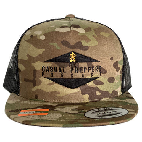 The Casual Preppers Podcast 5 Panel Trucker Cap - MultiCam