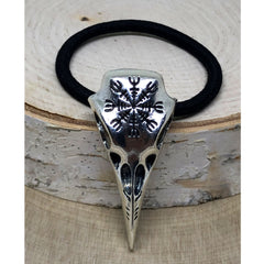 Viking Raven's Head Hair Tie