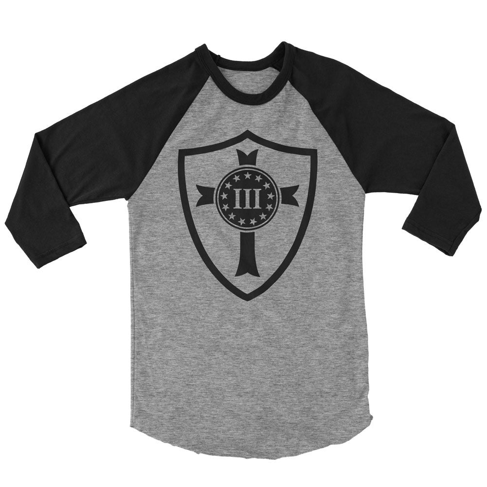 Three Percenter Raglan - Crusader Shield