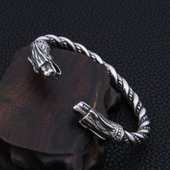 Viking Stainless Steel Dragon Armring Bracelet