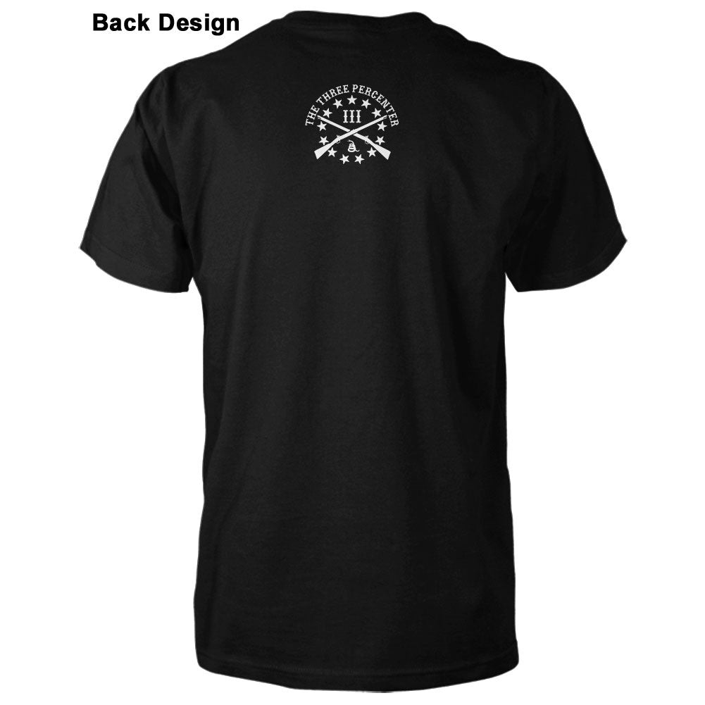 Three Percenter Shirt - Veterans Before Refugees Back Design