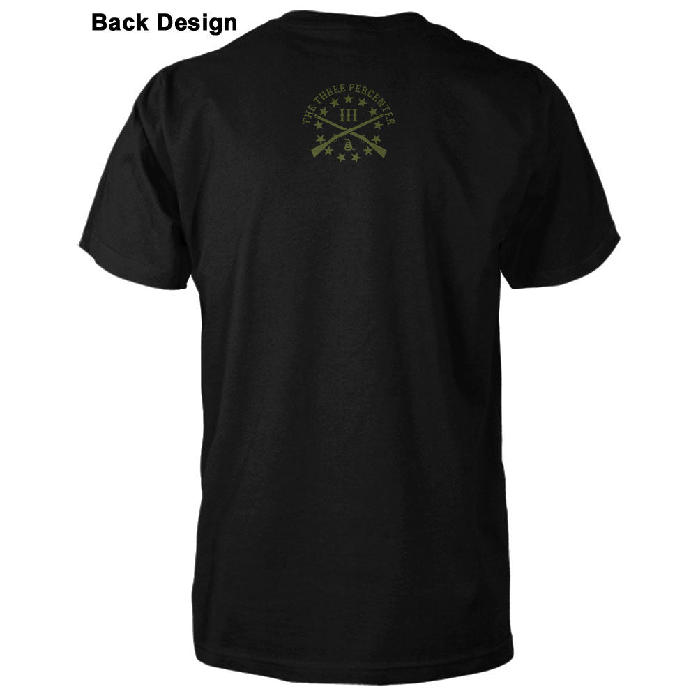 Three Percenter Flag Shirt Back Design