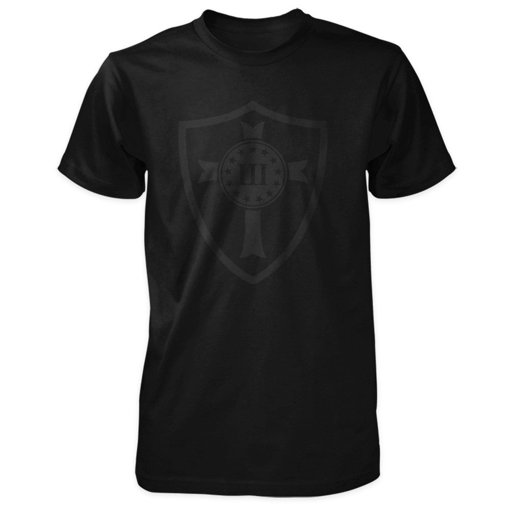 Crusader Shield tee Blackout Edition.