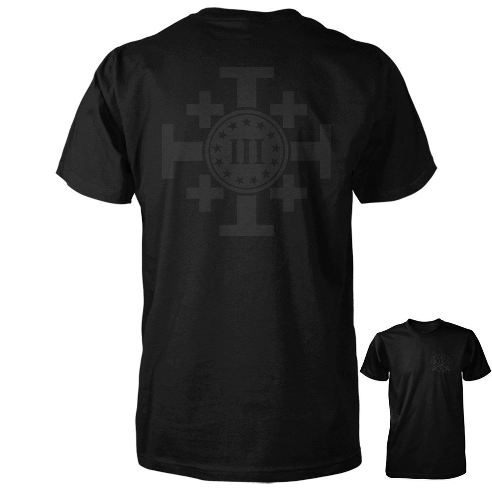 Crusaders Cross tee Blackout Edition