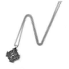Celtic Circle Cross Stainless Steel Pendant & Necklace - Full