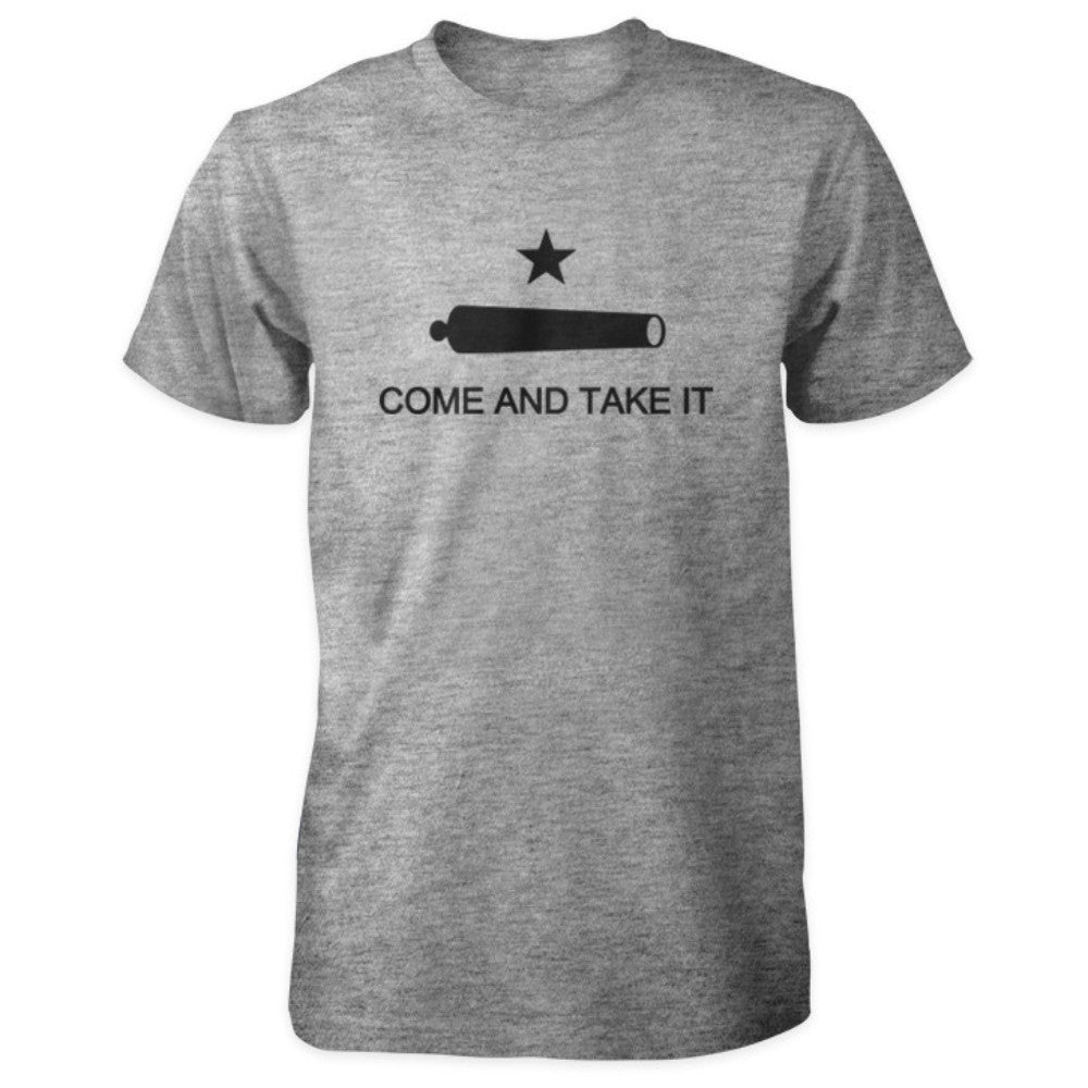 Texas Revolution Battle of Gonzales Come and Take It Flag Shirt - Sports Grey