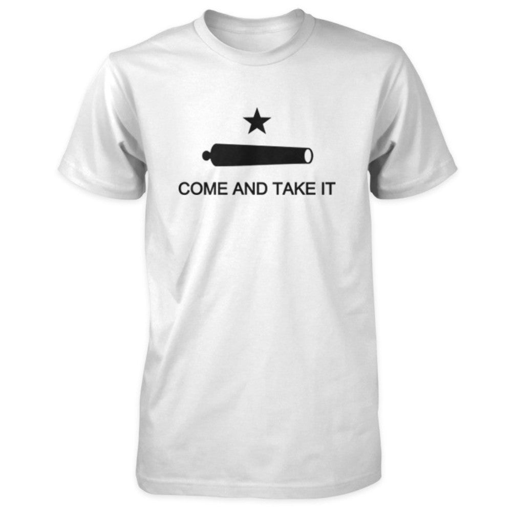 Texas Revolution Battle of Gonzales Come and Take It Flag Shirt - White