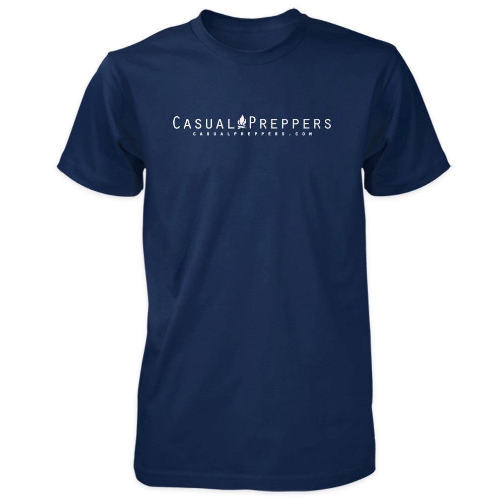 The Casual Preppers Podcast Shirt - Dot Com Logo - Navy