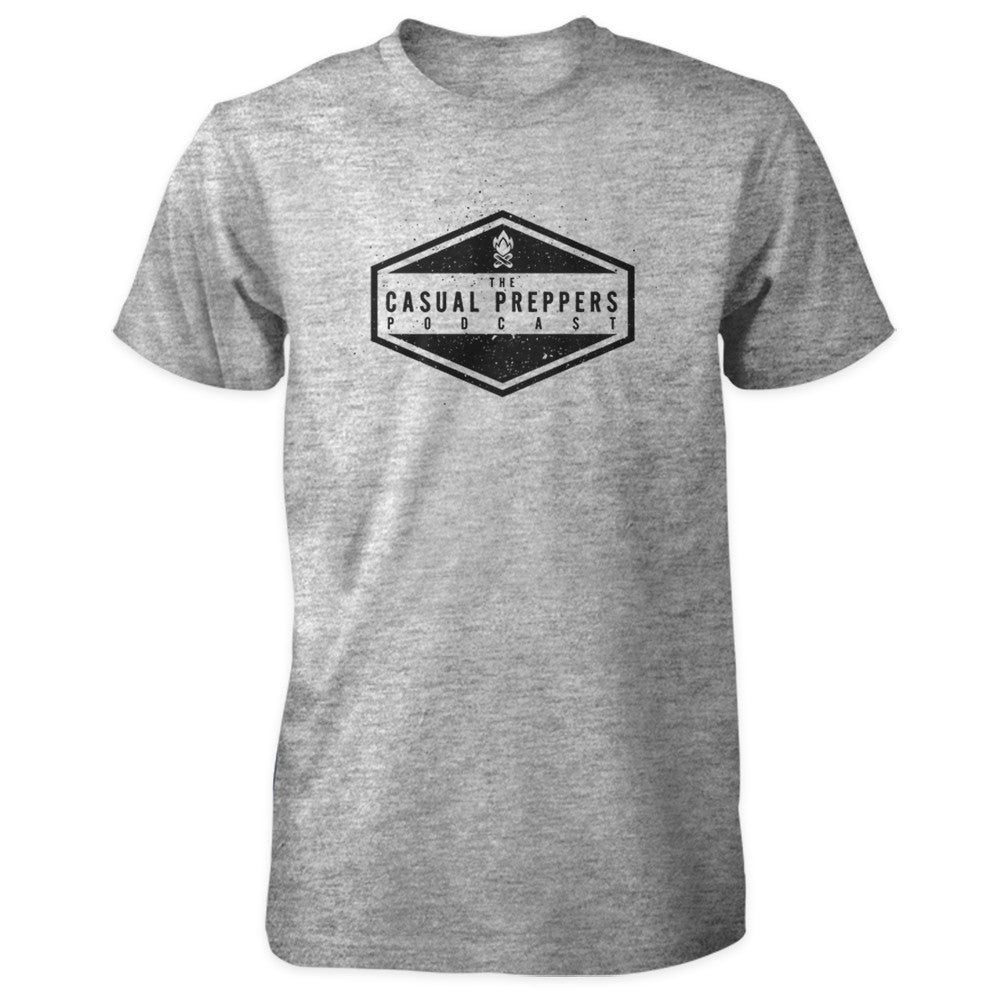 The Casual Preppers Podcast Shirt - CP Logo - Sports Grey