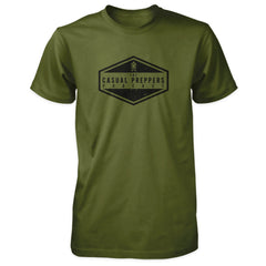 The Casual Preppers Podcast Shirt - CP Logo - Olive