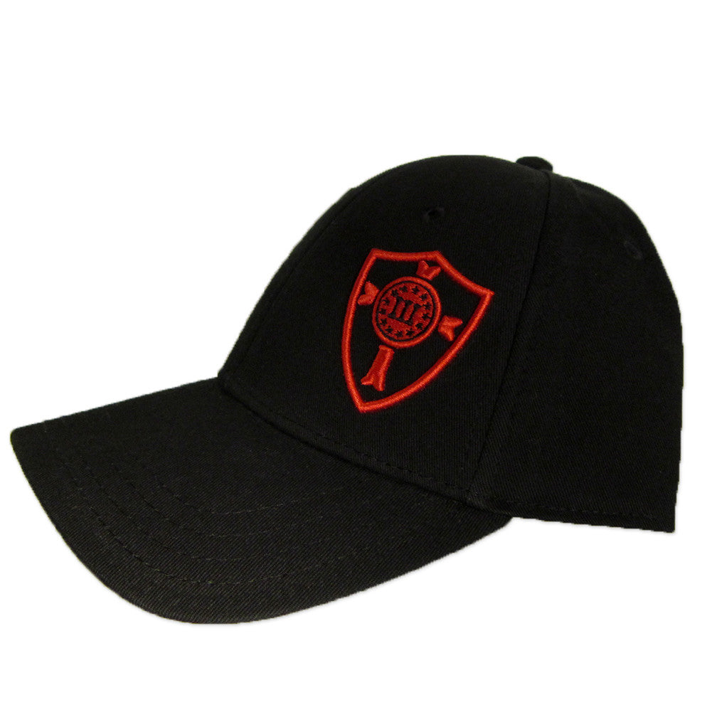 Three Percenter Snapback - Crusader Shield - Black & Red