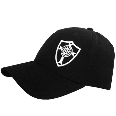 Three Percenter Snapback - Crusader Shield - Black & White