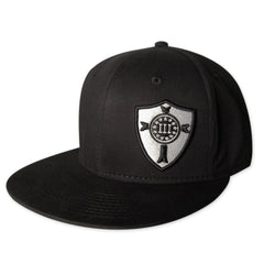 Three Percenter Stretch-Fit - Crusader Shield - Black & White