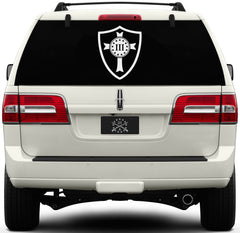 Three Percenter Window Decal - Crusader Shield